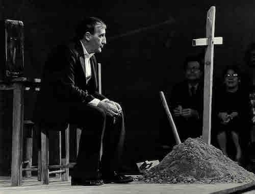 Tadeusz Kantor, Wielopole, Wielopole. Teatr Cricot 2, klub Stodoła, Warszawa listopad 1980, fot Jerzy Borowski Fundacja Tadeusza Kantora
