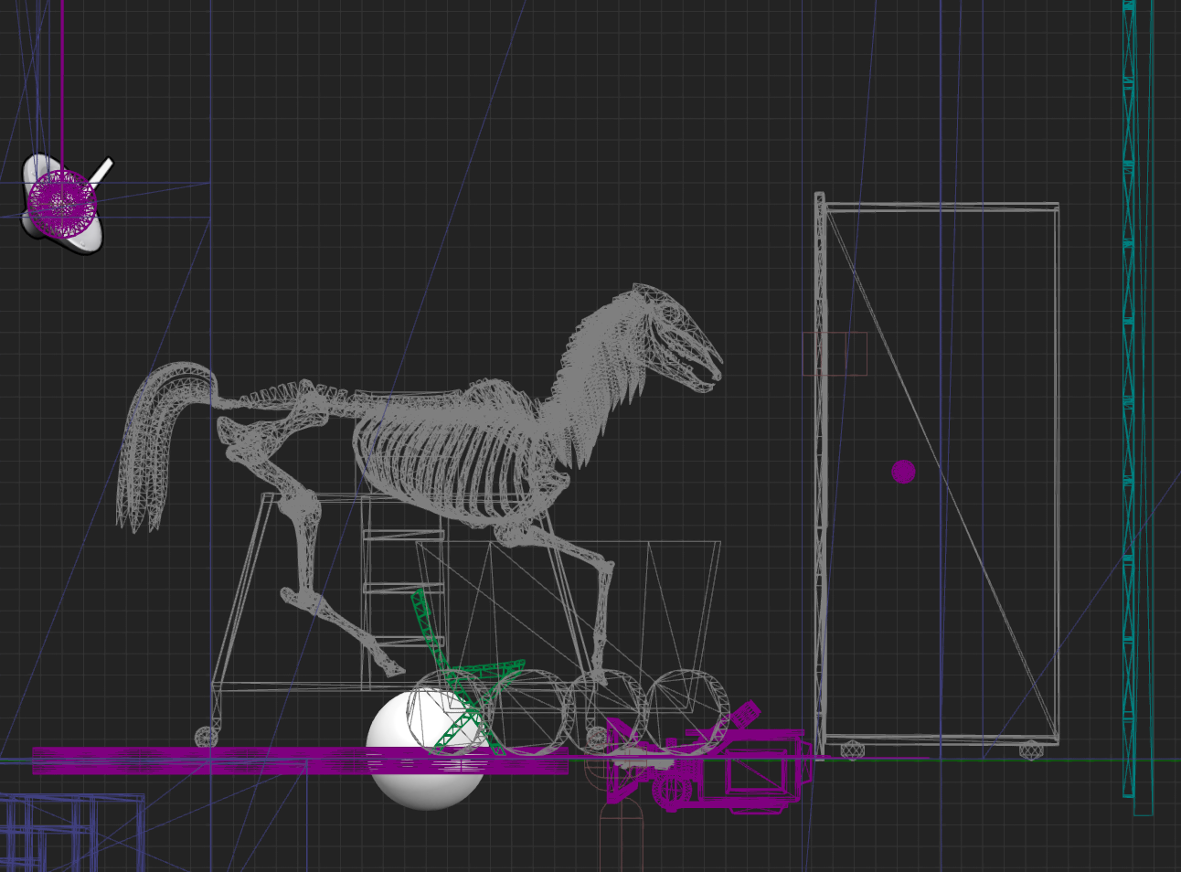 Cricoterie-WIP-UnrealEditor-horse_on_stage-cropped
